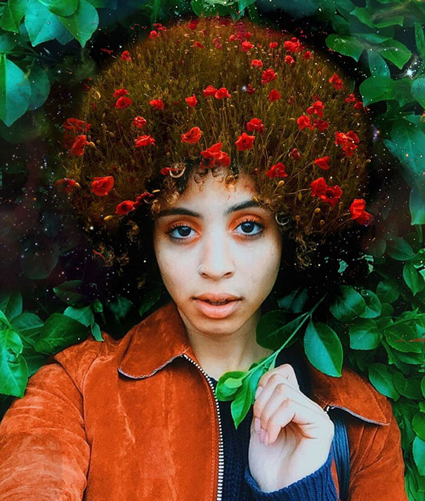 Afros Turned Into Flowery Galaxies To Make Black Women ...