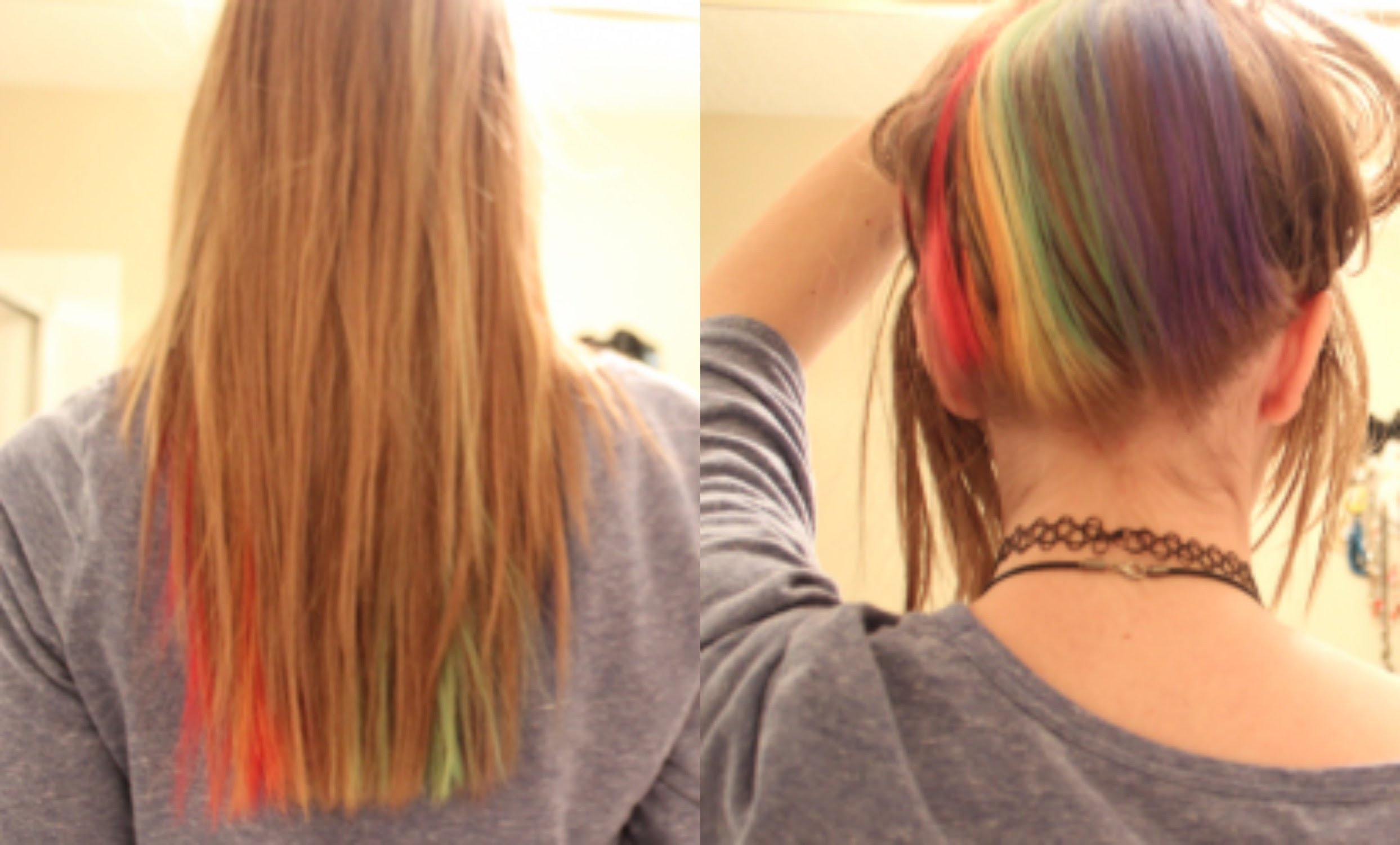 Hidden Rainbow Hair Is The Perfect Trend For Low Key Rebels